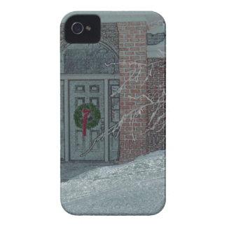 Couverture givrée d'IPhone de porte de vacances Coque Case-Mate iPhone 4