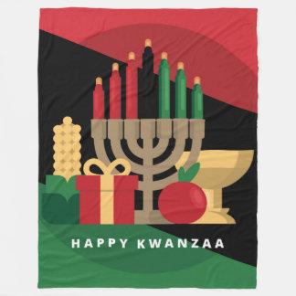 couverture heureuse de Kwanzaa de rayure diagonale