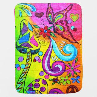 couverture hippie de paix d amour