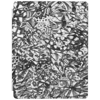 Couverture intelligente d'iPad abstrait de dessin Protection iPad