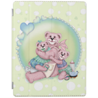 Couverture intelligente d'iPad d'AMOUR d'OURS de Protection iPad