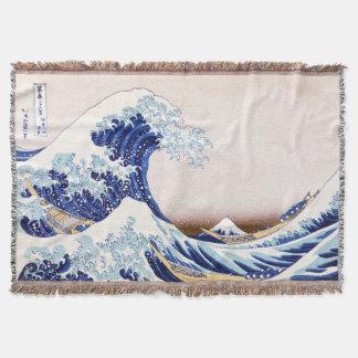 Couverture japonaise de jet de vagues