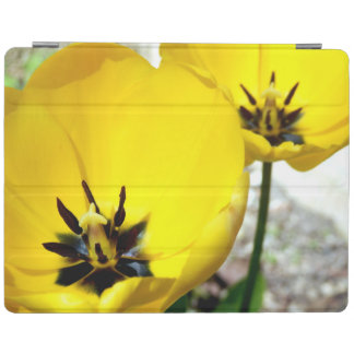 Couverture jaune d'iPad de tulipe Protection iPad