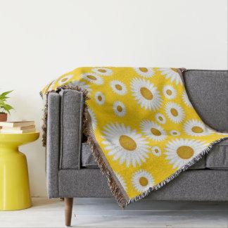 couverture jaune ensoleillée gaie de jet de