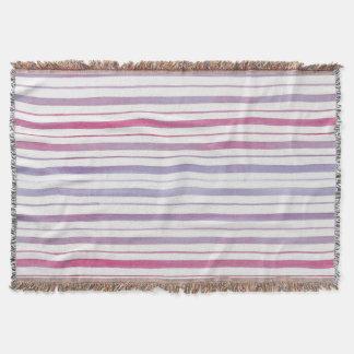 Couverture Jet rayé magenta et violet