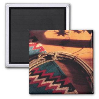 Couverture, lasso, et dents de Natif américain Magnets Pour Réfrigérateur