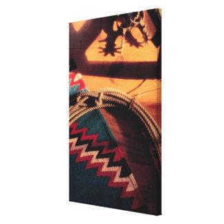 Couverture, lasso, et dents de Natif américain Impressions Sur Toile