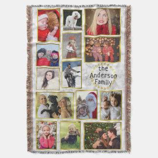 Couverture Le collage de photo de famille 14 images marbrent