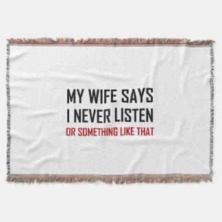 Couverture L'épouse dit n'écoutent jamais