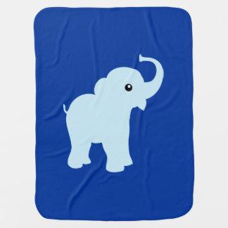 Couverture mignonne bleue d'éléphant pour le bébé couvertures pour bébé