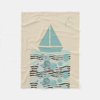 Couverture mignonne confortable de bateau de marin