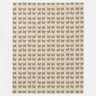 Couverture mignonne confortable de beige de motif