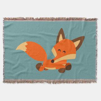 Couverture mignonne de jet de Fox de bande