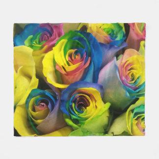 Couverture mignonne d'ouatine de roses