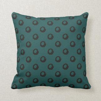Couverture minimaliste vert-foncé de coussin de