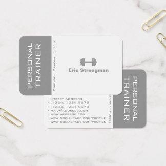 Couverture moderne de contraste de fente cartes de visite
