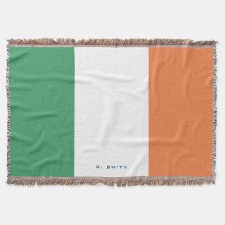 Couverture Monogramme. Couleurs de drapeau de l'Irlande