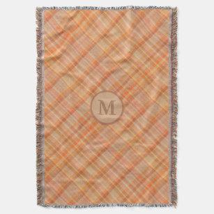 Couverture Monogramme de l'automne du Motif de plaid orange