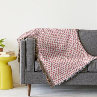 Couverture Motif sans couture de fraise rose douce