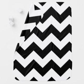 Couverture noire et blanche de bébé de Chevron Couvertures De Bébé