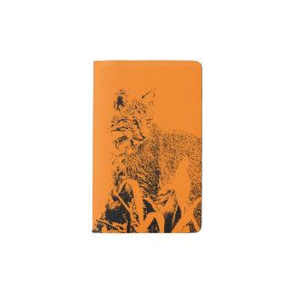 Couverture orange de carnet de portrait de chat