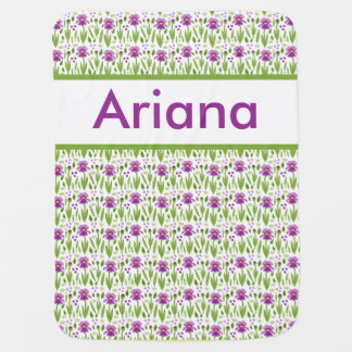 Couverture personnalisée de l'iris d'Ariana Couvertures De Bébé