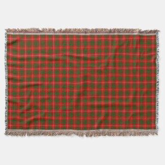 Couverture Plaid vert rouge de tartan de clan de Bruce