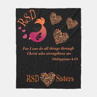 Couverture Polaire 4h13 de Philippiens de vers de bible de coeurs