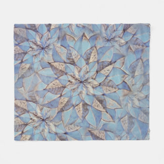 Couverture Polaire Abrégé sur bleu de Blanke d'ouatine floral