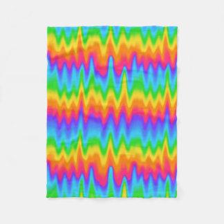 Couverture Polaire Abrégé sur coloré zigzag de Chevron d'arc-en-ciel