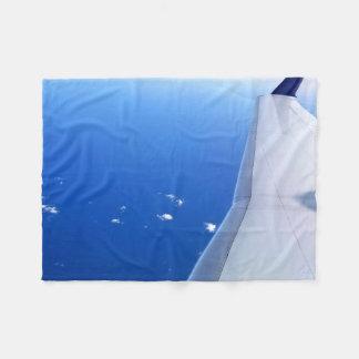 Couverture Polaire Aile d'avion en photo de ciel