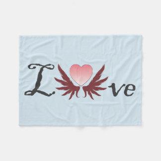 Couverture Polaire Amour - conceptions du jour de valentine,