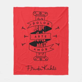 Couverture Polaire Amour d'art de douleur de Frida Kahlo |
