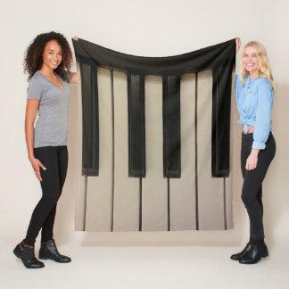 Couverture Polaire Amusement de conception de photo de clés de piano