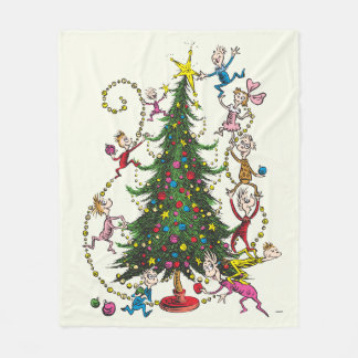 Couverture Polaire Arbre de Noël classique de Grinch |