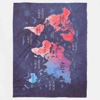 Couverture Polaire art de carte du monde
