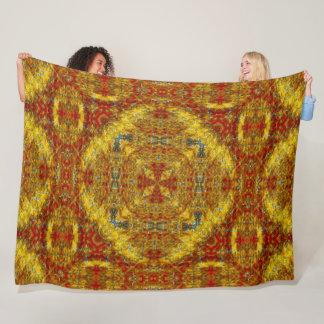 Couverture Polaire Art indigène de mandala de sable d'esprit de Sun
