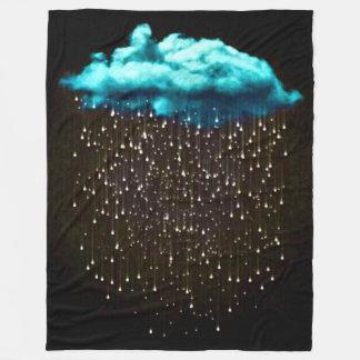 Couverture Polaire Art psychédélique d'imaginaire de nuage de pluie