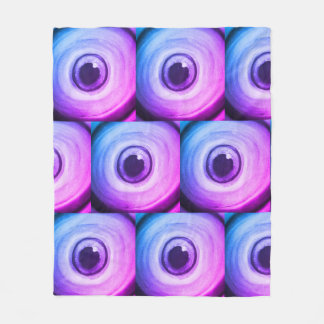 Couverture Polaire Art psychédélique trippy pourpre d'oeil