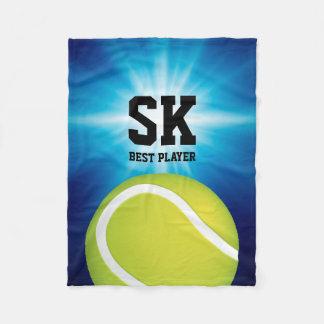 Couverture Polaire Balle de tennis verte personnalisée de |