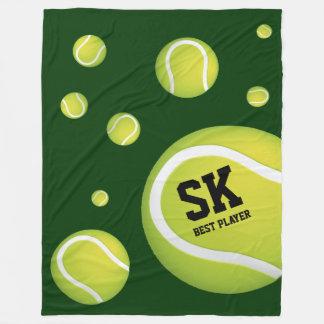 Couverture Polaire Balles de tennis vertes personnalisées