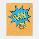 """Couverture Polaire Ballon de la bande dessinée """"bam"""""""