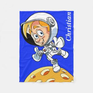 Couverture Polaire Bande dessinée personnalisée d'astronaute