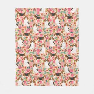 Couverture Polaire Beagle floral - chiens mignons et conception
