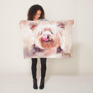 Couverture Polaire Beau Terrier abstrait
