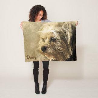 Couverture Polaire Beau Yorkshire Terrier abstrait