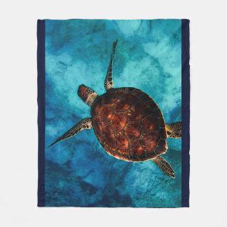 Couverture Polaire Beauté de tortue de mer