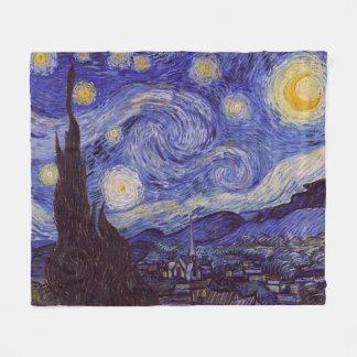 Couverture Polaire Beaux-arts de cru de nuit étoilée de Vincent van