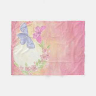 couverture polaire bébé papillons