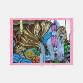Couverture Polaire Belle photo de cheval de carrousel, coutume